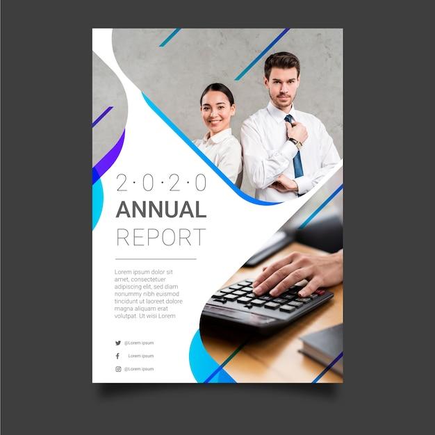 Modello astratto del rapporto annuale con i colleghi di affari Vettore gratuito