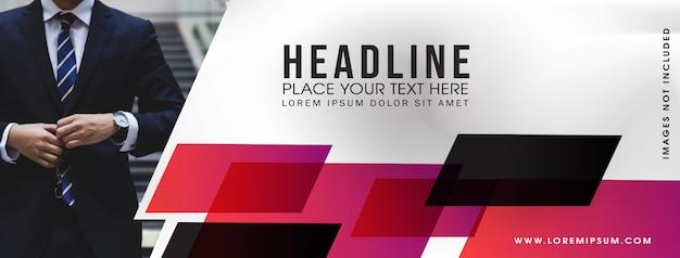 Modello astratto di banner business web Vettore Premium
