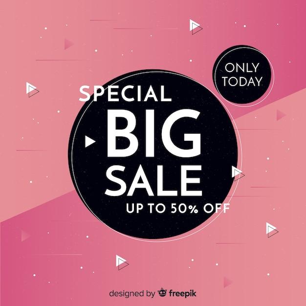 Modello astratto di banner di promozione di vendita Vettore gratuito