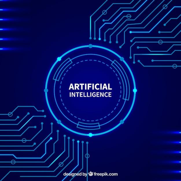 Modello astratto di intelligenza artificiale Vettore gratuito