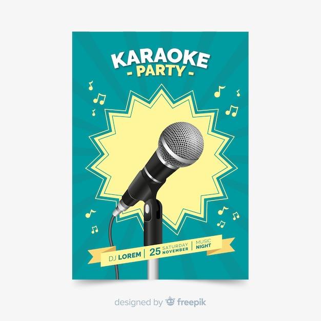 Modello astratto di poster di musica dal vivo Vettore gratuito