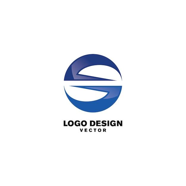 Modello astratto logo rotondo Vettore Premium