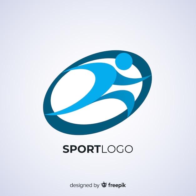 Modello astratto logotipo sportivo Vettore gratuito