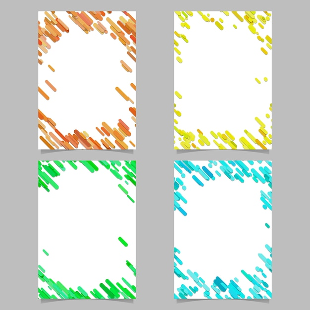 Modello astratto opuscolo colorato con strisce diagonali colorate Vettore Premium