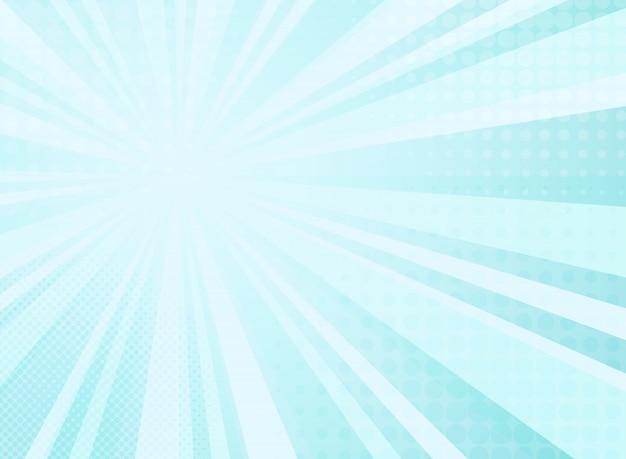 Modello astratto radianza soleggiato di sfondo mezzitoni comici Vettore Premium