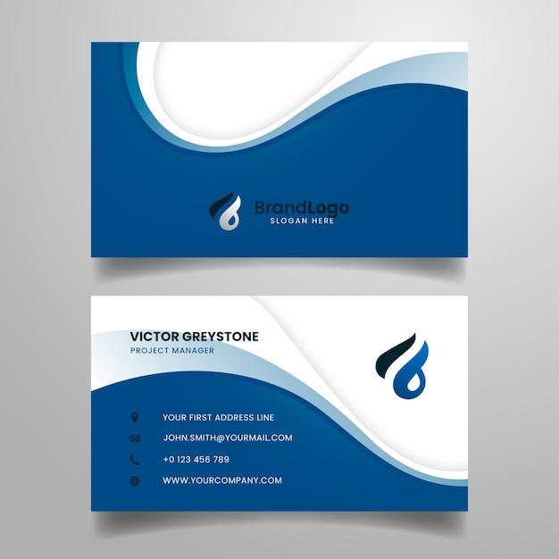 Modello blu classico astratto del biglietto da visita Vettore gratuito