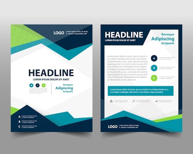 Modello blu copertina creativa del rapporto annuale blu Vettore gratuito