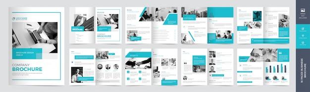Modello brochure - affari corporativi Vettore Premium