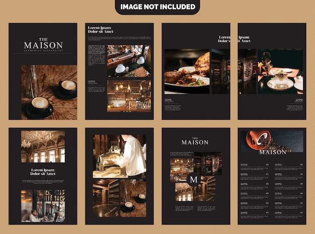 Modello brochure - caffè d'affari Vettore Premium
