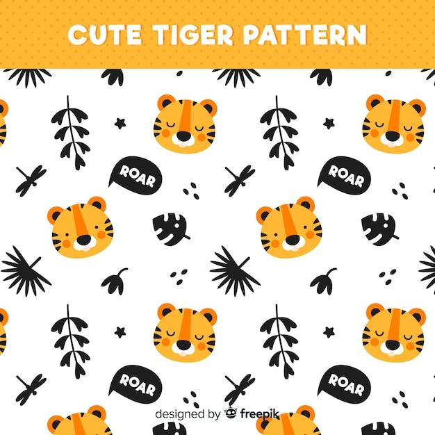 Modello carino tigre Vettore gratuito