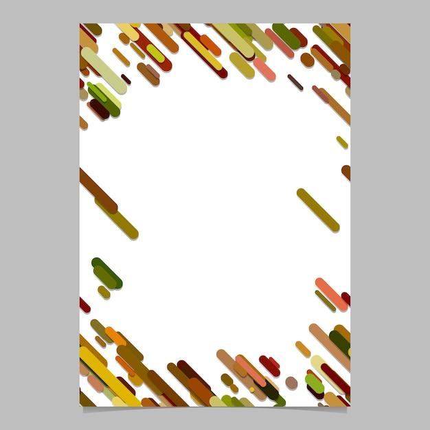 Modello casuale diagonale a forma di banda arrotondato a colori - progettazione sfondo astratto di cancelleria in bianco e nero Vettore Premium