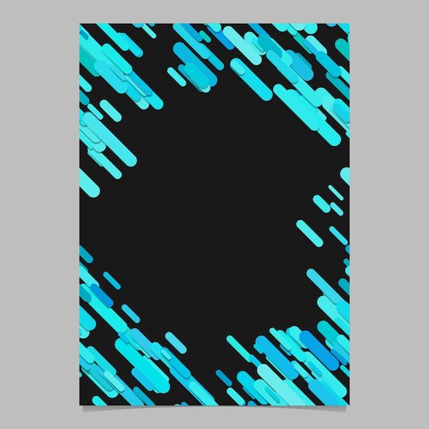 Modello casuale modello a forma di banda diagonale casuale a colori - documento vettoriale vuoto trendy, illustrazione sfondo cartoleria con strisce in toni cyan Vettore gratuito