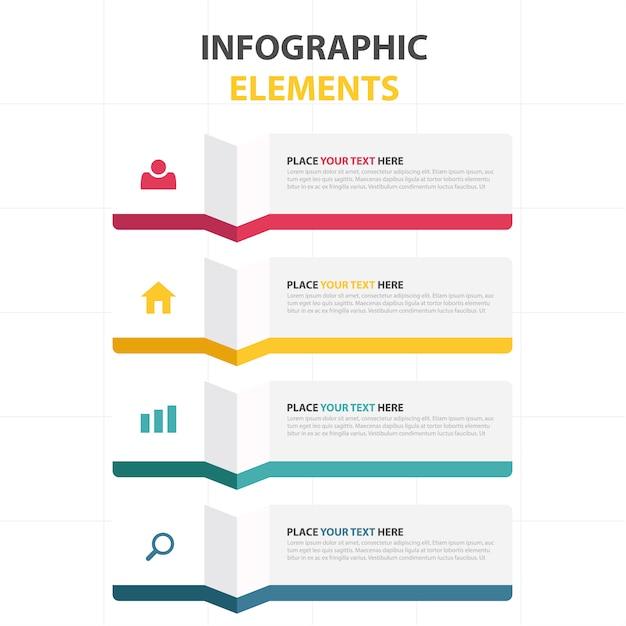 modello colorato astratto business infografica Vettore gratuito