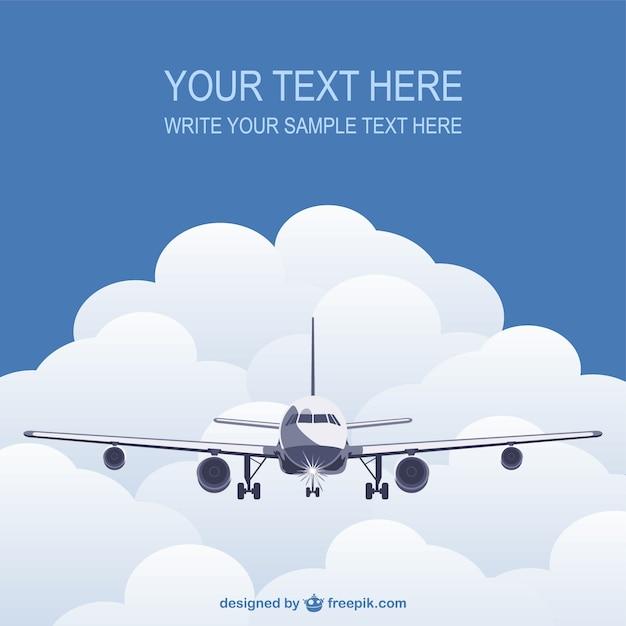 Modello con piano di volo Vettore gratuito