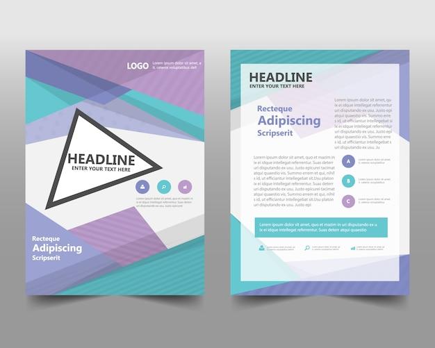 Modello creativo di copertina di libro di rapporto creativo variopinto Vettore gratuito