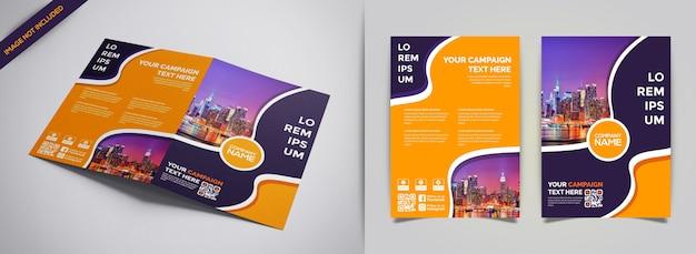 Modello creativo di moderno business brochure Vettore Premium