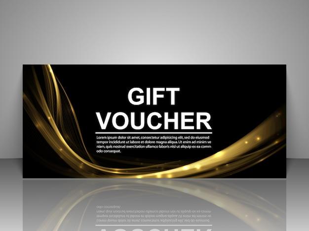 Modello del buono regalo Vettore Premium