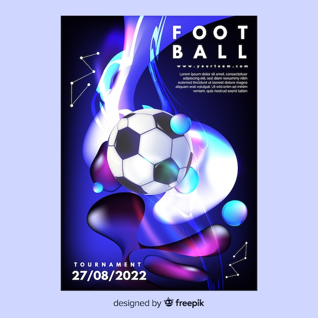 Modello del manifesto del torneo di calcio Vettore gratuito