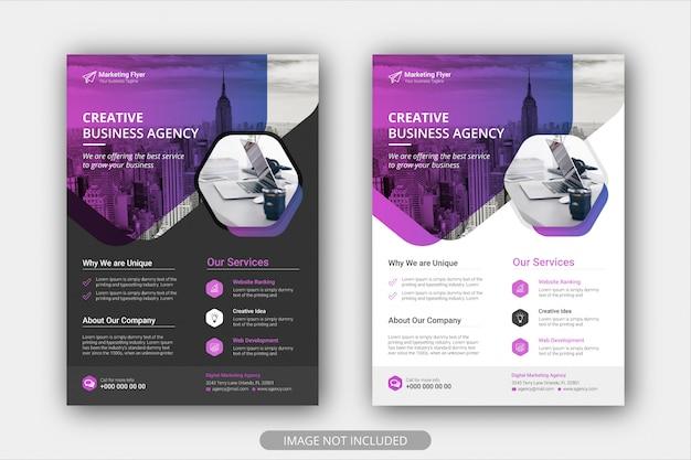 Modello del manifesto dell'aletta di filatoio di affari corporativi con colore di pendenza fondo della disposizione di progettazione della copertura dell'opuscolo Vettore Premium