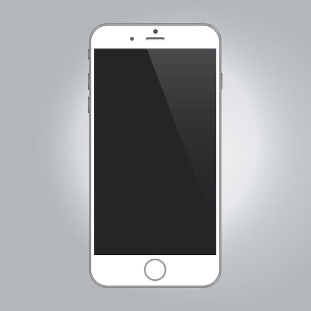 Modello del telefono cellulare Vettore gratuito