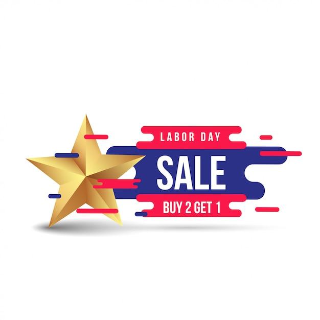 Modello dell'insegna di pubblicità di promozione di vendita di festa del lavoro Vettore Premium