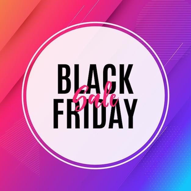 Modello dell'insegna di vendita di black friday Vettore Premium