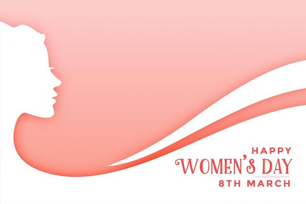 Modello della carta di desideri eleganti del giorno delle donne felici Vettore gratuito