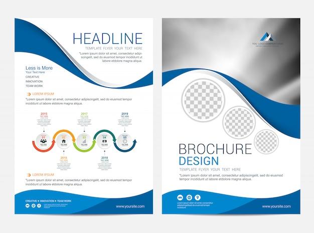 Modello della disposizione dell'opuscolo, fondo di progettazione della copertura dell'aletta di filatoio dell'opuscolo Vettore Premium