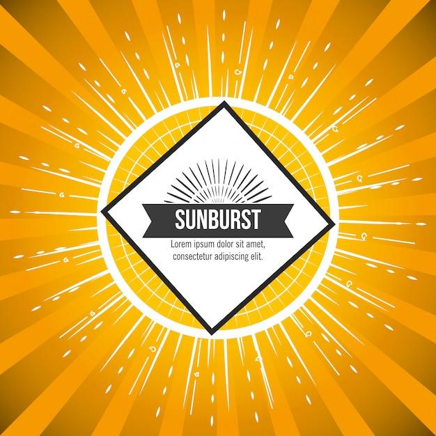 Modello dello sprazzo di sole Vettore gratuito