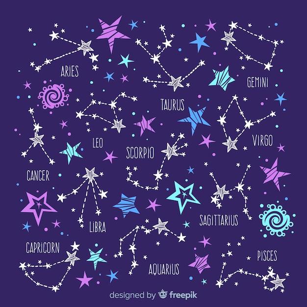 Modello dello zodiaco Vettore gratuito