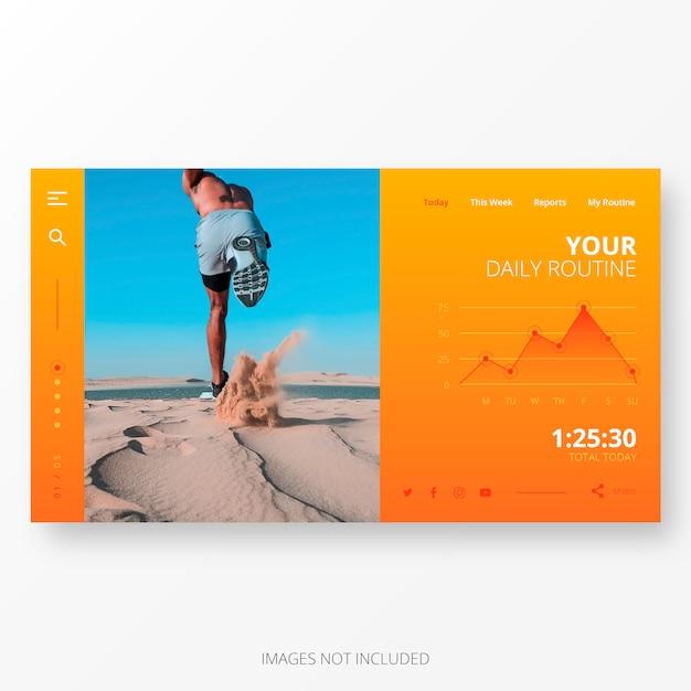 Modello di app di routine quotidiana per schermo del computer Vettore gratuito