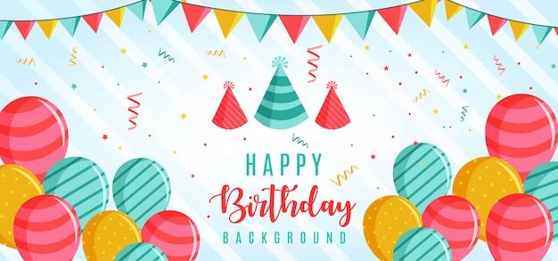 Modello di auguri di buon compleanno Vettore Premium