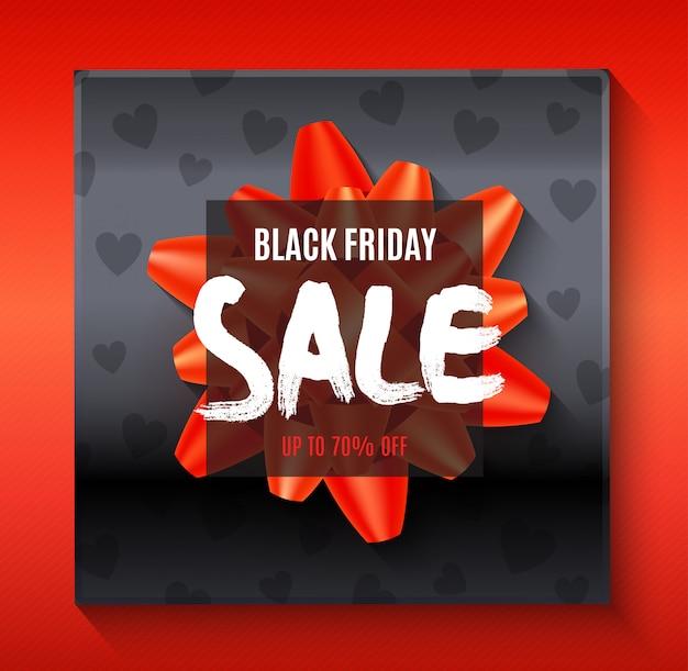 Modello di bandiera di grande vendita venerdì nero con elementi astratti Vettore gratuito