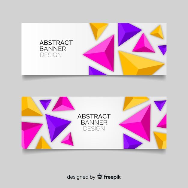 Modello di bandiera geometrica astratta Vettore gratuito