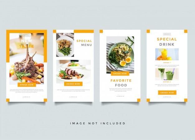 Modello di banner alimentare e culinario Vettore Premium
