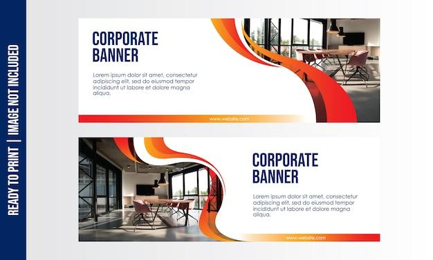 Modello di banner aziendale Vettore Premium