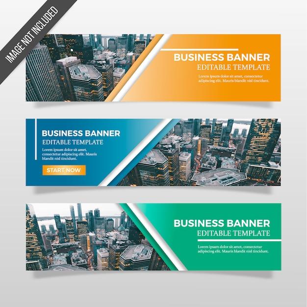 Modello di banner commerciali Vettore gratuito