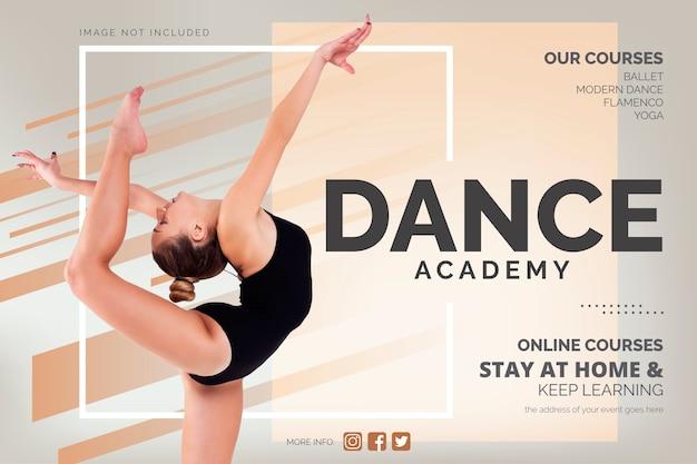 Modello di banner corsi di danza online Vettore gratuito