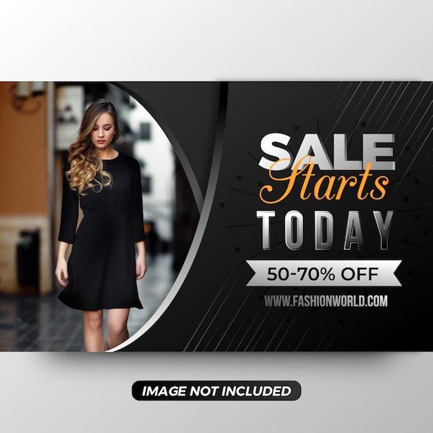 Modello di banner dello shopping online Vettore Premium