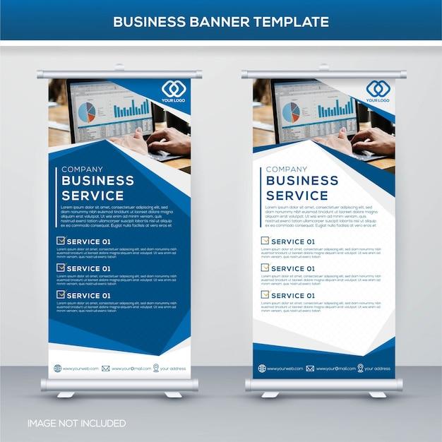 Modello di banner di business Vettore Premium