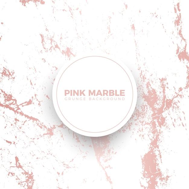 Modello di banner di marmo rosa grunge Vettore Premium