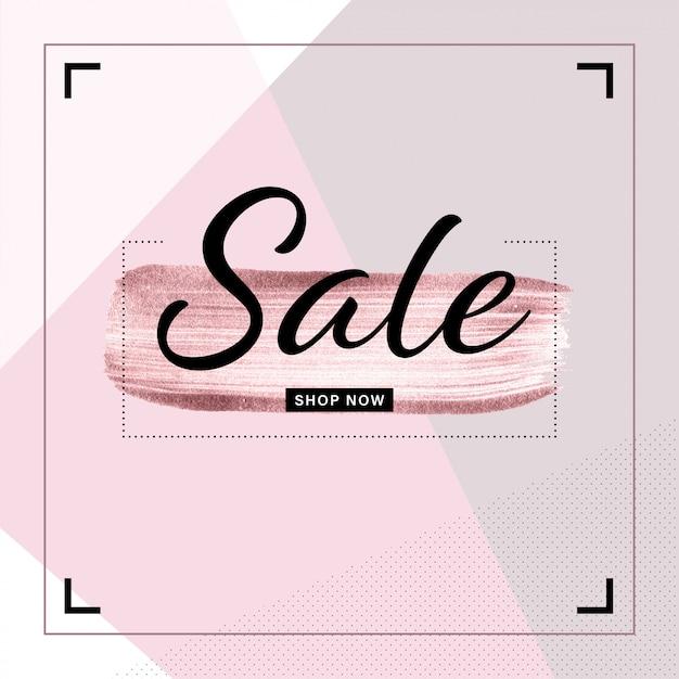 Modello di banner di vendita per post instagram Vettore Premium