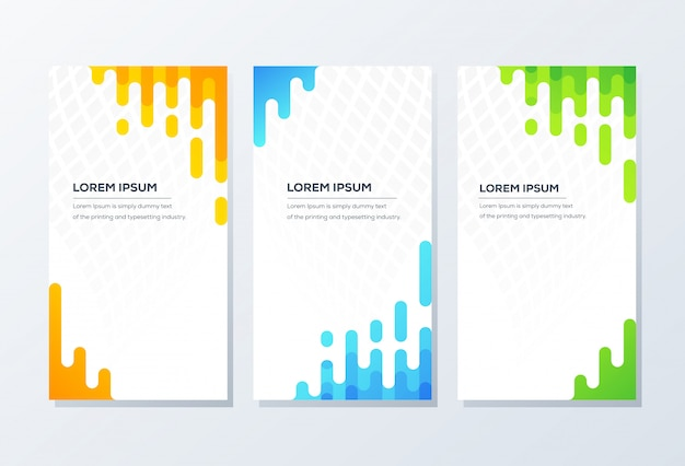 Modello di banner. presentazione e brochure Vettore Premium