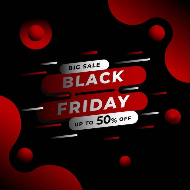 Modello di banner quadrato del black friday per instagram Vettore Premium