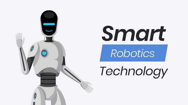Modello di banner tecnologia smart robotica. Vettore Premium