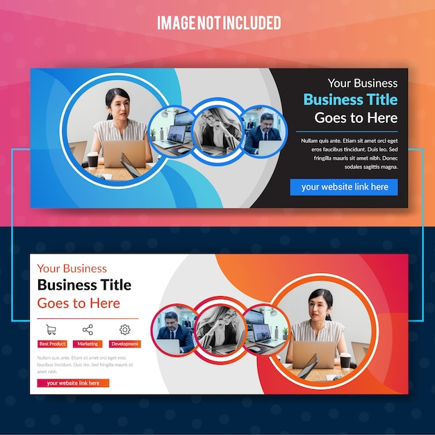 Modello di banner web aziendale Vettore Premium