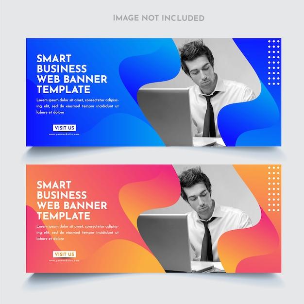 Modello di banner web aziendali Vettore Premium