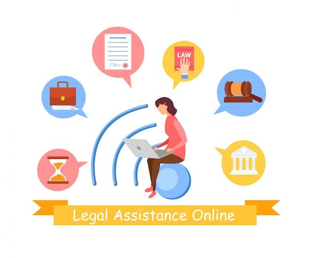 Modello di banner web servizio di diritto sociale Vettore Premium
