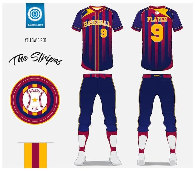 Modello di baseball jersey design Vettore Premium