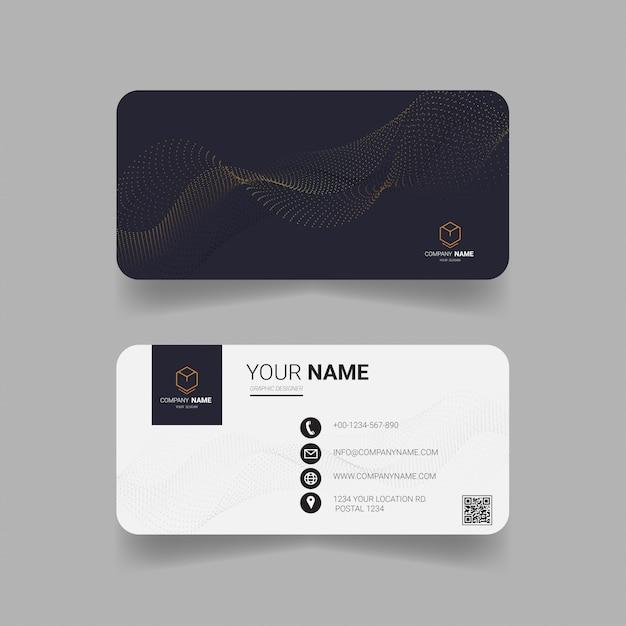 Modello di biglietto da visita creativo. Vettore Premium